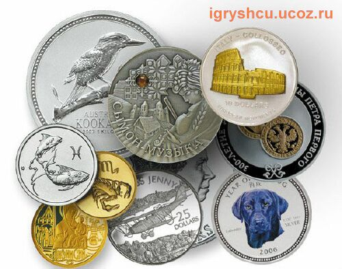 фото - драгоценные монеты мира